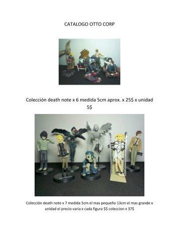 CATALOGO OTTO CORP Colección death note x 6 ... - Kuro Alley