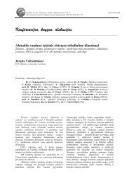 Aktualūs vandens teisinės sistemos tobulinimo klausimai - Aplinkos ...