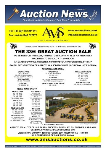 Auction News Oct 03 11 - Auction News Services