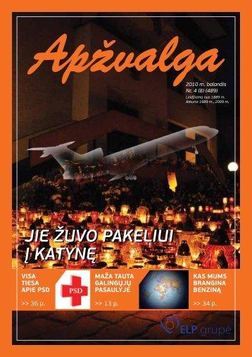 """2010 m. balandžio mėn. """"Apžvalgos"""" numeris - Algirdas Saudargas"""