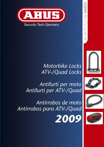 Motorbike Locks ATV-/Quad Locks Antifurti per moto Antifurti ... - Abus