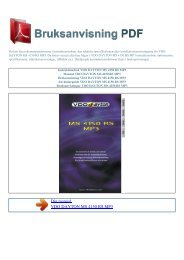 Instruktionsbok VDO DAYTON MS 4150 RS MP3