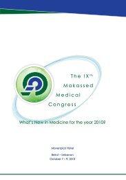 The IX t h Makassed Medical Congress - American University of Beirut