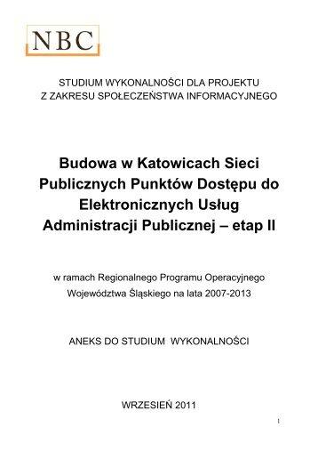 Aneks do SW PIAP II - Final - BIP UM Katowice