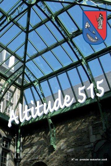 Altitude 515 - Association des Anciens et Anciennes de Bastogne