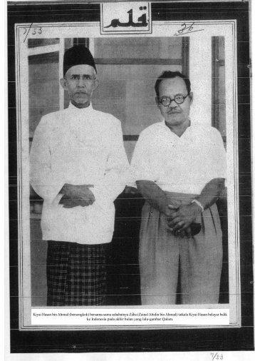 Kiyai Hasan bin Ahmad (bersongkok) bersama-sama sahabatnya ...