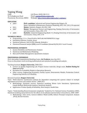 Yaping Wang - Eden.rutgers.edu