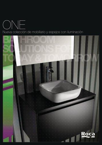 Nueva colección de mobiliario y espejos con iluminación - Roca