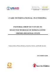 care international in ethiopia – pastoral drop out study - ELMT Home