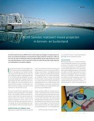 BESIX Sanotec realiseert mooie projecten in binnen- en buitenland