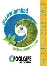 Katalog von Schwimmbadzubehör Pool Care von Schenk
