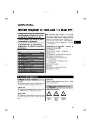 Martillo rompedor TE 1000‑AVR / TE 1500‑AVR - Hilti