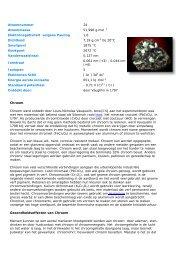 Bijlage 5: chroomtrioxide volgens Lenntech, een ... - Het Echte Nieuws