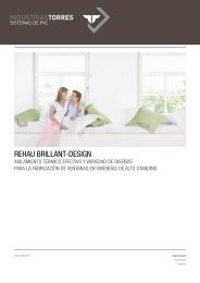 Folleto informativo REHAU Brillant-Design (PDF) - Industrias Torres