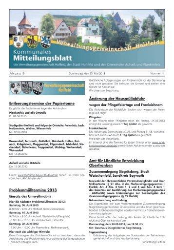 Mitteilungsblatt Nr. 11 - Hollfeld