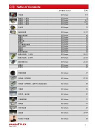 目录Talbe of Contents - HANSA-FLEX: 中国