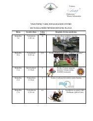 Renginių planas 2013 m. balandis - Vėliučionių vaikų socializacijos ...