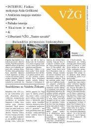 2008 m. balandis 13 numeris - Vilniaus Žirmūnų gimnazija