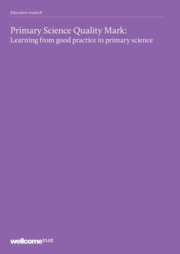 Primary Science Quality Mark: