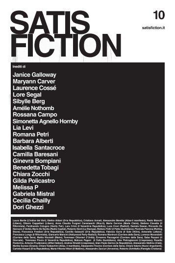 Laura Barile (L'Indice dei libri), Elettra Aldani (D-la ... - Satisfiction