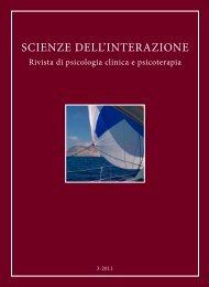 Scienze dell'Interazione anno 2011 n.3 - Scuola di specializzazione ...