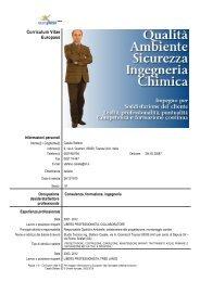 Curriculum Vitae Europass - Master di II livello in REACH ...