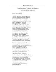 Four New Poems / Quattro nuove poesie