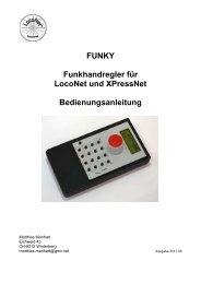 FUNKY Funkhandregler für LocoNet und XPressNet ...