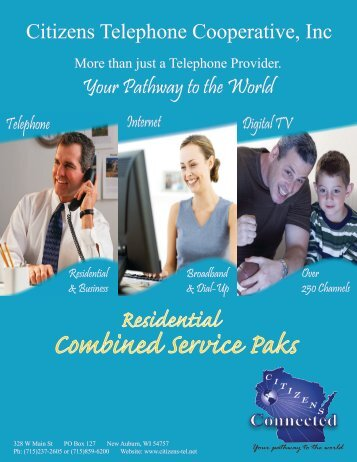 Combined Services Paks - Citizens Telephone Cooperative, Inc.