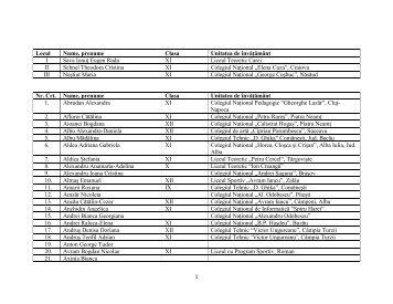 Lista Elevi Concurs De Eseuri