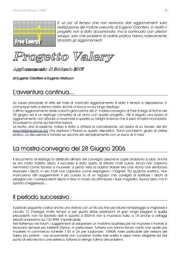 Progetto Valery - Altra Scienza