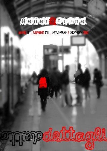 generAzione rivista novembre - dicembre 2010, anno III, num XIII ...