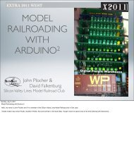 Applications Clinic Slides - Model Railroading with Arduino