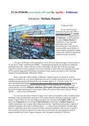 Istruttore: Stefano Passeri - Moto & turismo on/off road