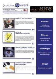 cinema viaggi Musica tecnologia - Quotidiano Giovani