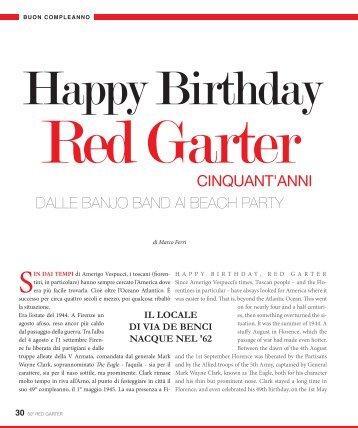 Leggi tutta la storia del Red Garter - Red Garter Florence