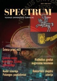 Spectrum - Universiteto naujienos - Vilniaus universitetas