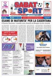 ESAME DI MATURITA' PER LA CASERTANA - Sabato non solo Sport