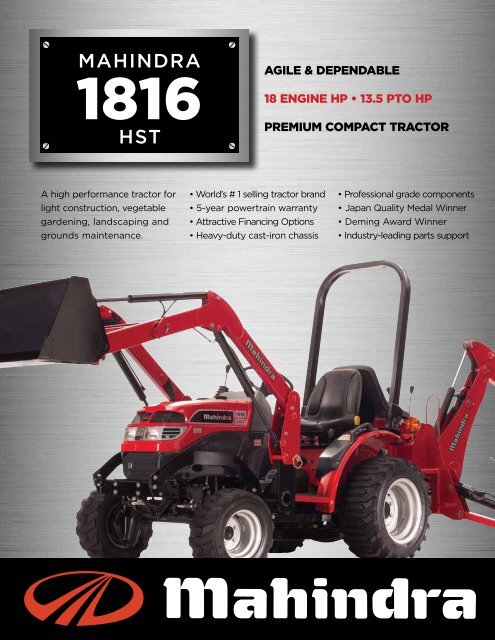 Download Brochure - Chattanooga Tractor & Equipment