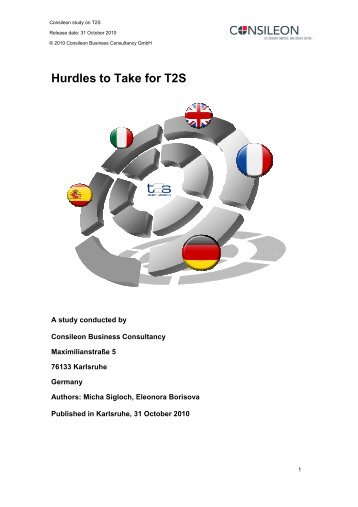 Hurdles to Take for T2S - Consileon Business Consultancy GmbH