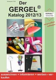 Der neue Gergel Katalog 2012-13.pdf - GERGEL Werbemittel GmbH