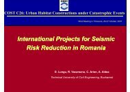 International procects for Seismic Risk Reduction in Romania, D ...