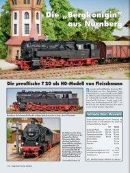 """Die """"Bergkönigin"""" aus Nürnberg - Fleischmann-HO"""