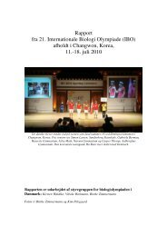Rapport fra BioOL 2010 (pdf) - Emu