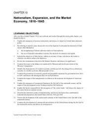 Nationalism, Expansion, and the Market Economy, 1816–1845