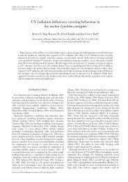 Sigg* JE, Lloyd-Knight* KM, Boal JG. 2007. UV Light Influences ...