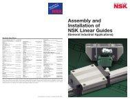 LG Handbook Install Linear Guides - NSK