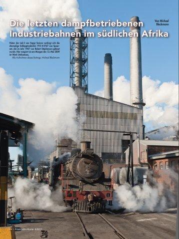 Dampf auf Industriebahnen - Tanago