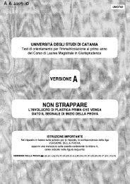 test 2009-2010 - Giurisprudenza - Università degli Studi di Catania