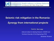 Seismic risk mitigation in the Romania- Synergy from ... - unisdr